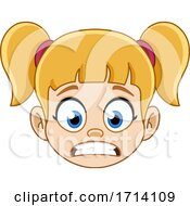 Blond Haired Girl With A Worried Expression