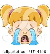 Blond Haired Girl With A Crying Expression