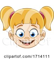 Blond Haired Girl With A Happy Expression