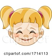 Blond Haired Girl With A Pleased Expression