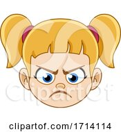 Blond Haired Girl With A Mad Expression
