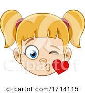 Blond Haired Girl With A Kiss Expression