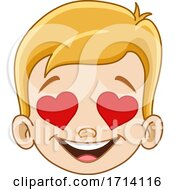 Poster, Art Print Of Blond Haired Boy With A Loving Expression