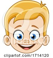 05/20/2020 - Blond Haired Boy With A Happy Expression