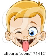 05/20/2020 - Blond Haired Boy With A Silly Expression