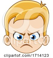 05/20/2020 - Blond Haired Boy With A Mad Expression