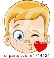 05/20/2020 - Blond Haired Boy With A Kiss Expression