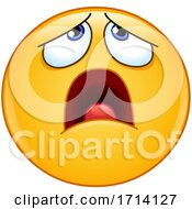 Poster, Art Print Of Yellow Emoji With An Exasperated Expression