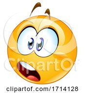 Poster, Art Print Of Yellow Emoji With A Shocked Expression