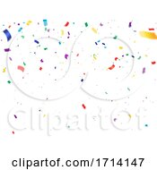 Party Confetti Background by Vector Tradition SM