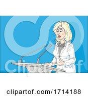 Poster, Art Print Of Female Politician Giving A Speech