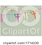 Vintage Bunting Retro Copy Space Textured Background