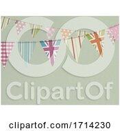 Vintage Bunting Retro Copy Space Textured Background by elaineitalia #COLLC1714230-0046