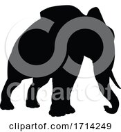 Poster, Art Print Of Elephant Silhouette