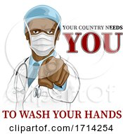 Doctor Pointing Needs You To Wash Your Hands