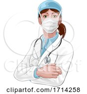 Doctor Woman In Medical PPE Mask