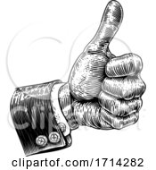 Poster, Art Print Of Hand In Business Suit Giving Thumbs Up