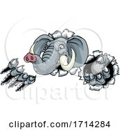 Poster, Art Print Of Elephant Golf Ball Sports Animal Mascot