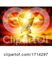 Poster, Art Print Of Holy Grail Cup Gold Chalice Goblet