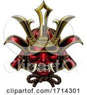 Samurai Mask Japanese Shogun Warrior Helmet