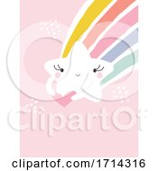 Pastel Cute Shooting Star With A Rainbow On Pink