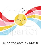 Poster, Art Print Of Cute Sun With A Rainbow