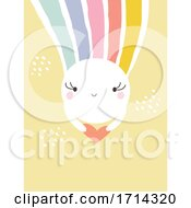 Poster, Art Print Of Pastel Cute Sun With A Rainbow