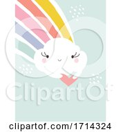 Poster, Art Print Of Pastel Cute Cloud With A Rainbow