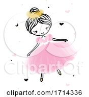 Poster, Art Print Of Cute Ballerina Dancing