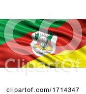 3D Illustration Of The Brazilian State Flag Of Rio Grande Do Sul Waving In The Wind