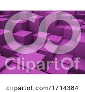 Poster, Art Print Of 3d Abstract Cubes Background