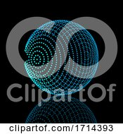 Poster, Art Print Of Abstract Sphere Design