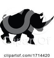 05/27/2020 - Rhino Animal Silhouette
