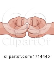 Poster, Art Print Of Fist Bump Hands Punch Cartoon
