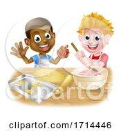 Poster, Art Print Of Boys Baking Cakes