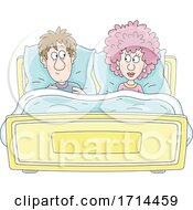 Poster, Art Print Of Couple Looking At Each Other In Bed