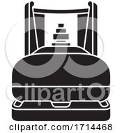 Black And White Silhouette Gas Cylinder