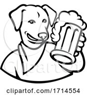 English Lab Dog Beer Mug Black And White