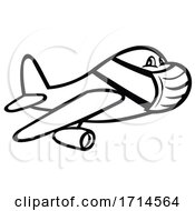 Jet Plane Or Airplane Wearing Surgical Mask
