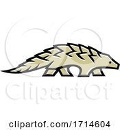 Pangolin Scaly Anteater Walking Side Mascot by patrimonio