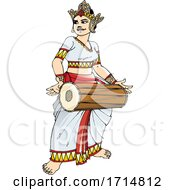 Female Sri Lankan Drummer by Lal Perera #COLLC1714812-0106