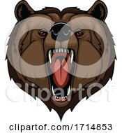 Angry Red Eyed Bear Roaring
