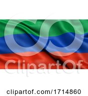 05/31/2020 - Flag Of The Republic Of Dagestan Waving In The Wind 3D Illustration
