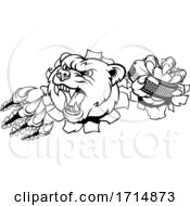 05/31/2020 - Bear Ice Hockey Player Animal Sports Mascot
