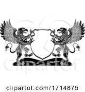 Poster, Art Print Of Coat Of Arms Griffin Crest Griffon Family Shield