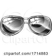 05/31/2020 - Vintage Style Sunglasses Icon Illustration