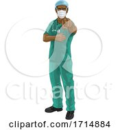 05/31/2020 - Nurse Doctor In PPE Mask Pointing Needs You