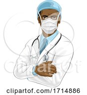 Doctor Wearing Medical PPE by AtStockIllustration