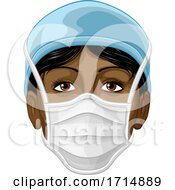 Poster, Art Print Of Doctor Or Nurse Wearing Ppe Protective Face Mask