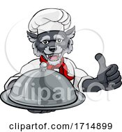 05/31/2020 - Wolf Chef Mascot Sign Cartoon Character